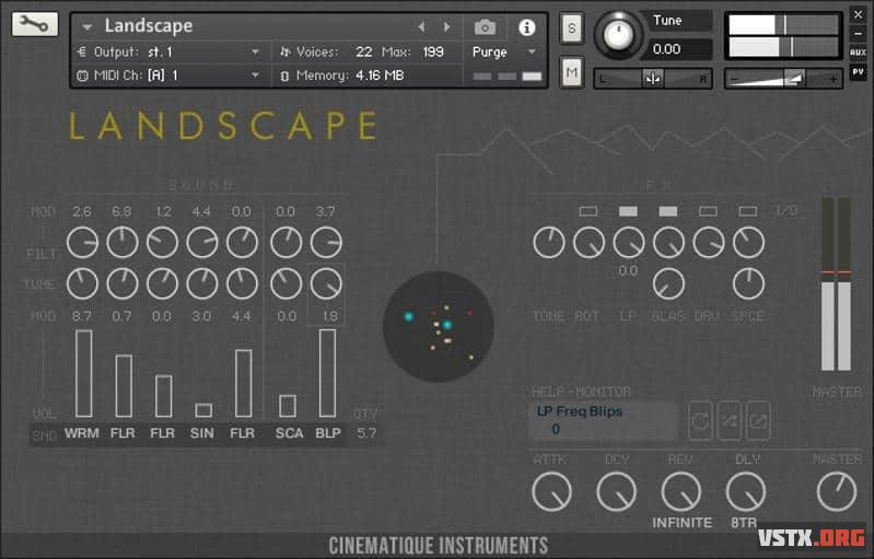 Cinematique Instruments - LANDSCAPE (KONTAKT) - атмосферные звуки