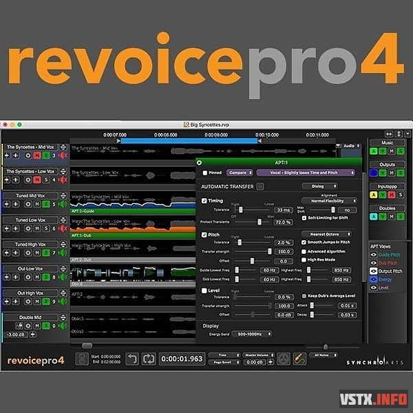 Synchro Arts - ReVoice Pro v4.2.1.2 EXE/VST3/AAX x64 R2R [01.01.2021]