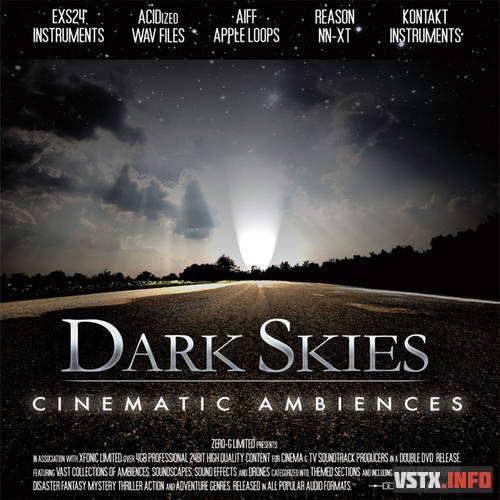 Zero-G - Dark Skies Cinematic Ambiences (AIFF, EXS, NNXT, WAV, KONTAKT) - сэмплы cinema